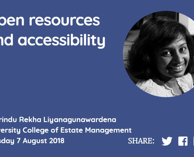 Open resources and accessibility