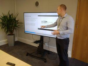 Stephen Forster making a presentation