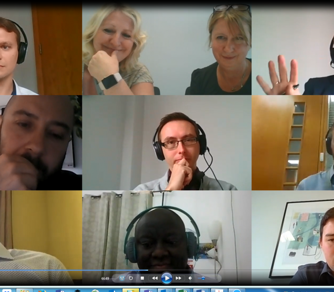 Celebrity squares :): Students and staff joining our co-design workshop on Zoom