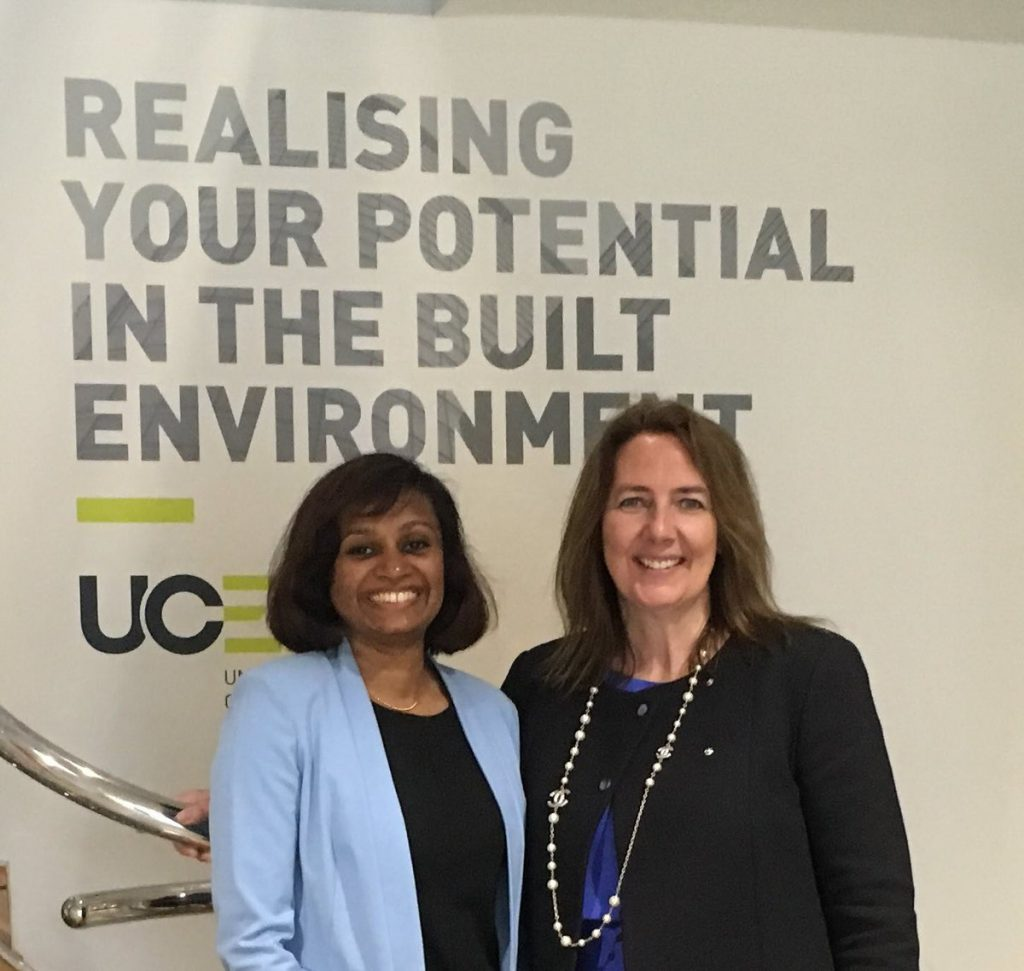 Amanda and Tharindu posing for a photo at UCEM